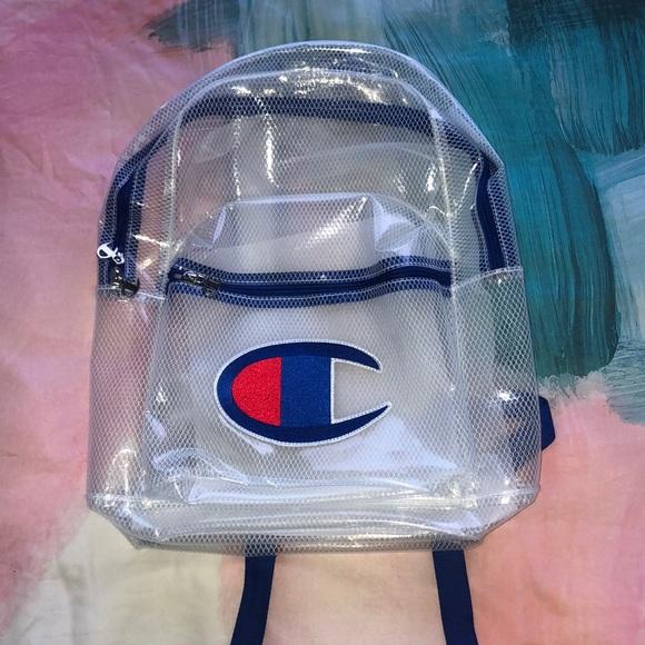 bfc39378c55c Champion Unisex Blue Supersize Logo Backpack Boutique